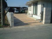 菖蒲町 I様邸 スタンプコンクリート