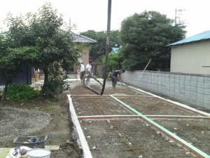 スタンプコンクリート(デザインコンクリート)コンクリート打設、外構工事、エクステリア