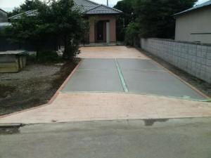 エクステリア、外構工事、スタンプコンクリート(デザインコンクリート)施工例