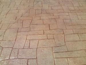 エクステリア、外構工事のスタンプコンクリート(デザインコンクリート)施工例