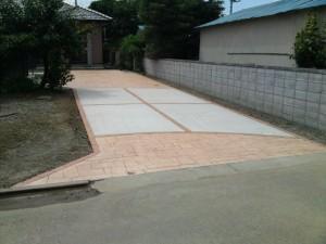 外構工事、エクステリア、スタンプコンクリート(デザインコンクリート)施工例詳細