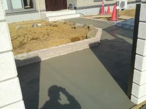 コンクリート打設状況