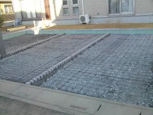 土間コンクリート配筋施工