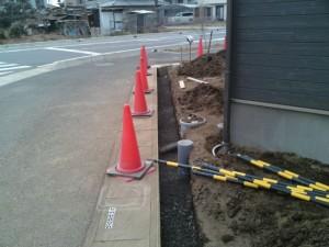 ブロック基礎施工状況