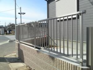 外構フェンス設置