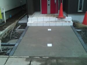 下地コンクリート打設完了